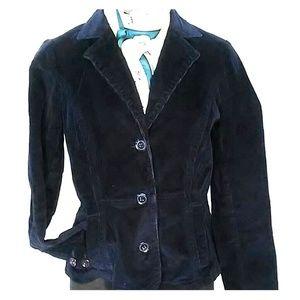 St. John's Bay navy blue corduroy jacket size PS